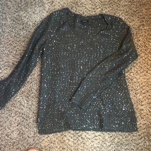Grey shimmery sweater